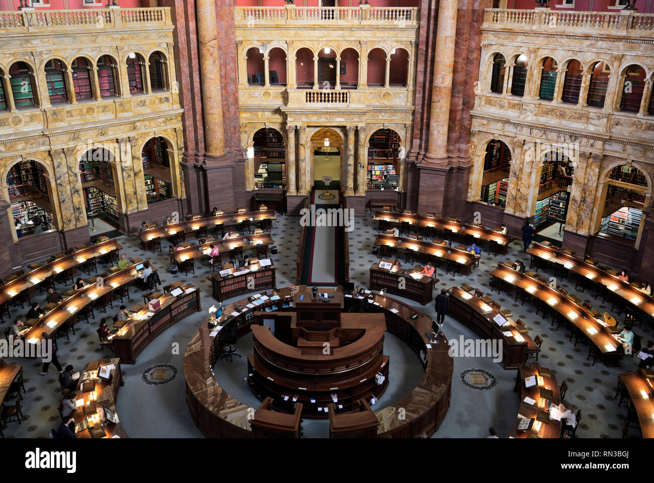 Library of Congress reading room - Stock Image
