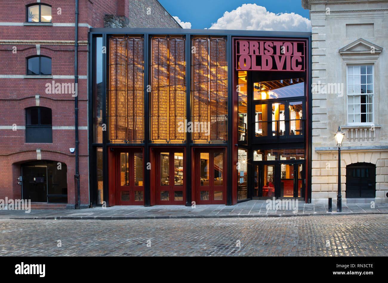 SWINDON, UK - FEBRUARY 16, 2019: The Bristol Old Vic Theatre King Street Bristol - Stock Image