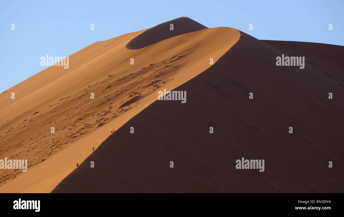 Sand Dunes At Sunrise Around Dune 45 Near Sossusvlei