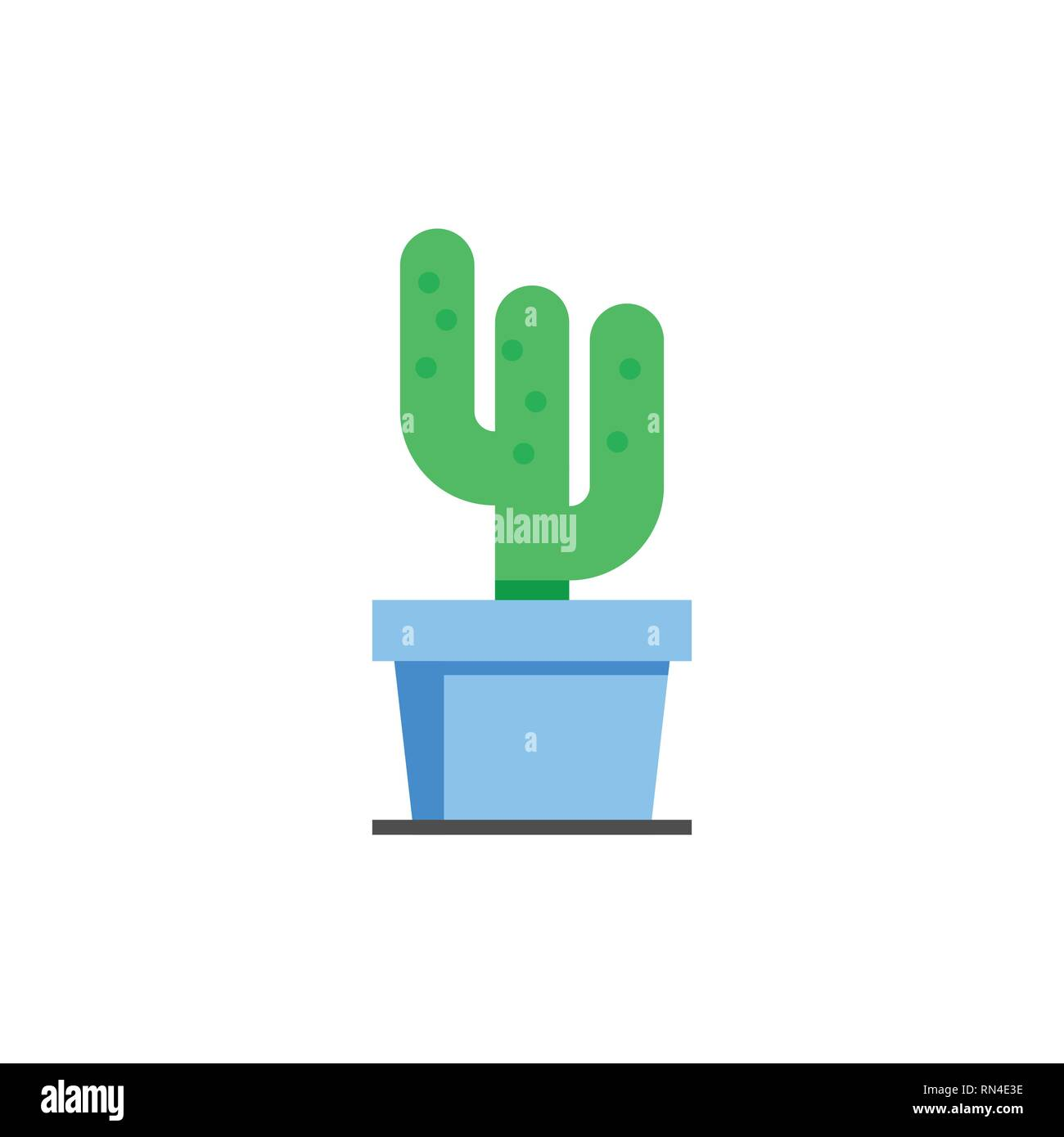 Cactus Plant Icon Illustration On White Background Houseplants In Flower Pot Template Logo Ready For Use Vector Eps10 Stock Vector Image Art Alamy