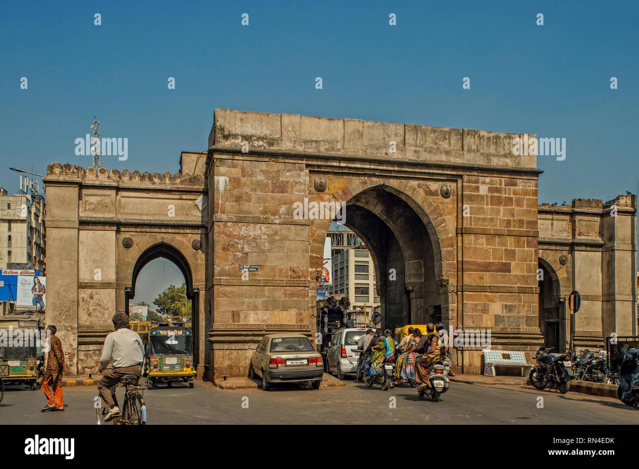16-Jan-2017-Delhi Darwaja Ahmedabad now Amdavad Gujarat INDIA asia - Stock Image