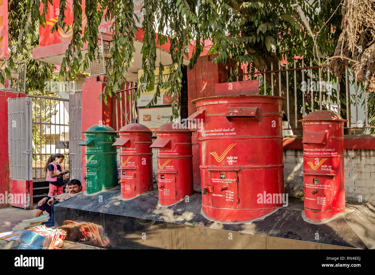 16-Jan-2017-Ahmedabad GPO-380001 General Post Office GUJARAT INDIA asia - Stock Image
