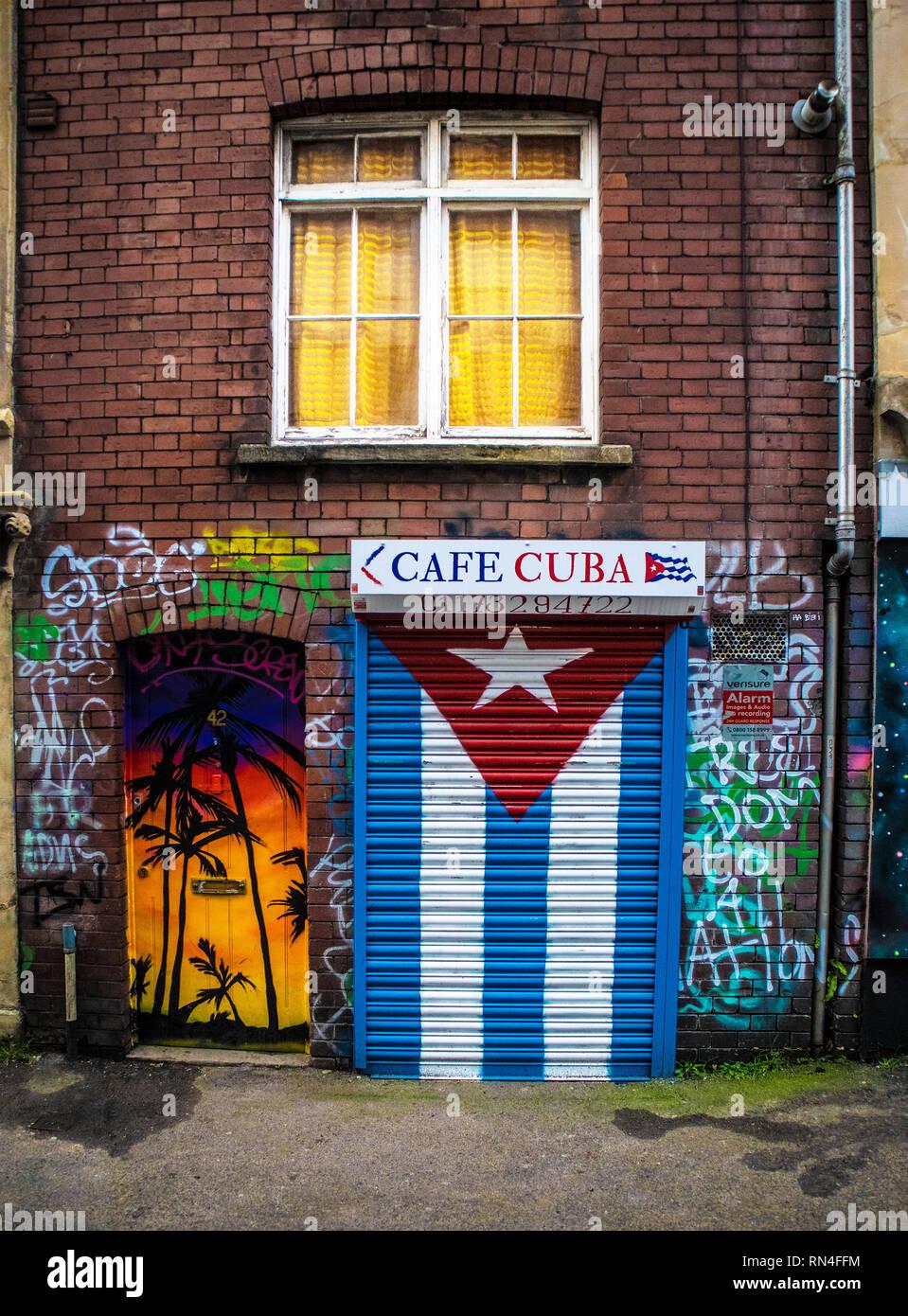 SWINDON, UK - FEBRUARY 12, 2019: Cafe Cuba in Stokes Croft Bristol, UK - Stock Image