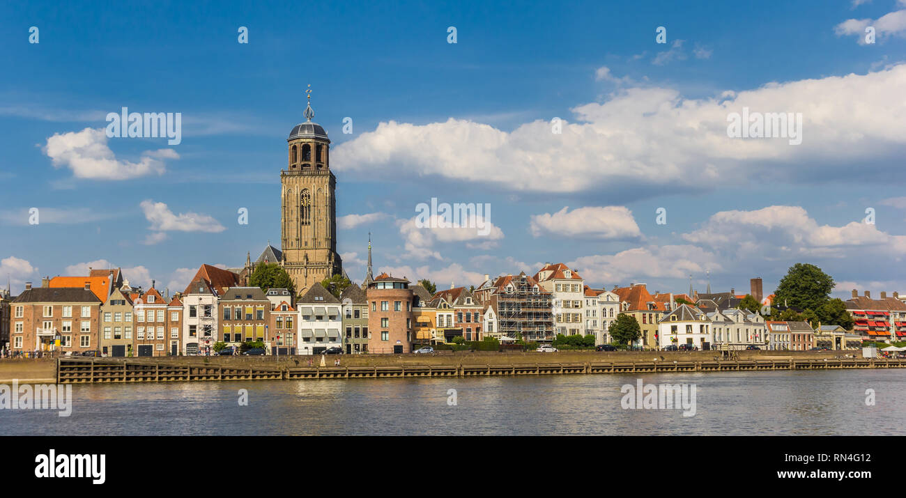 Panorama of Deventer and he IJssel river in The Netherlands Stock Photo