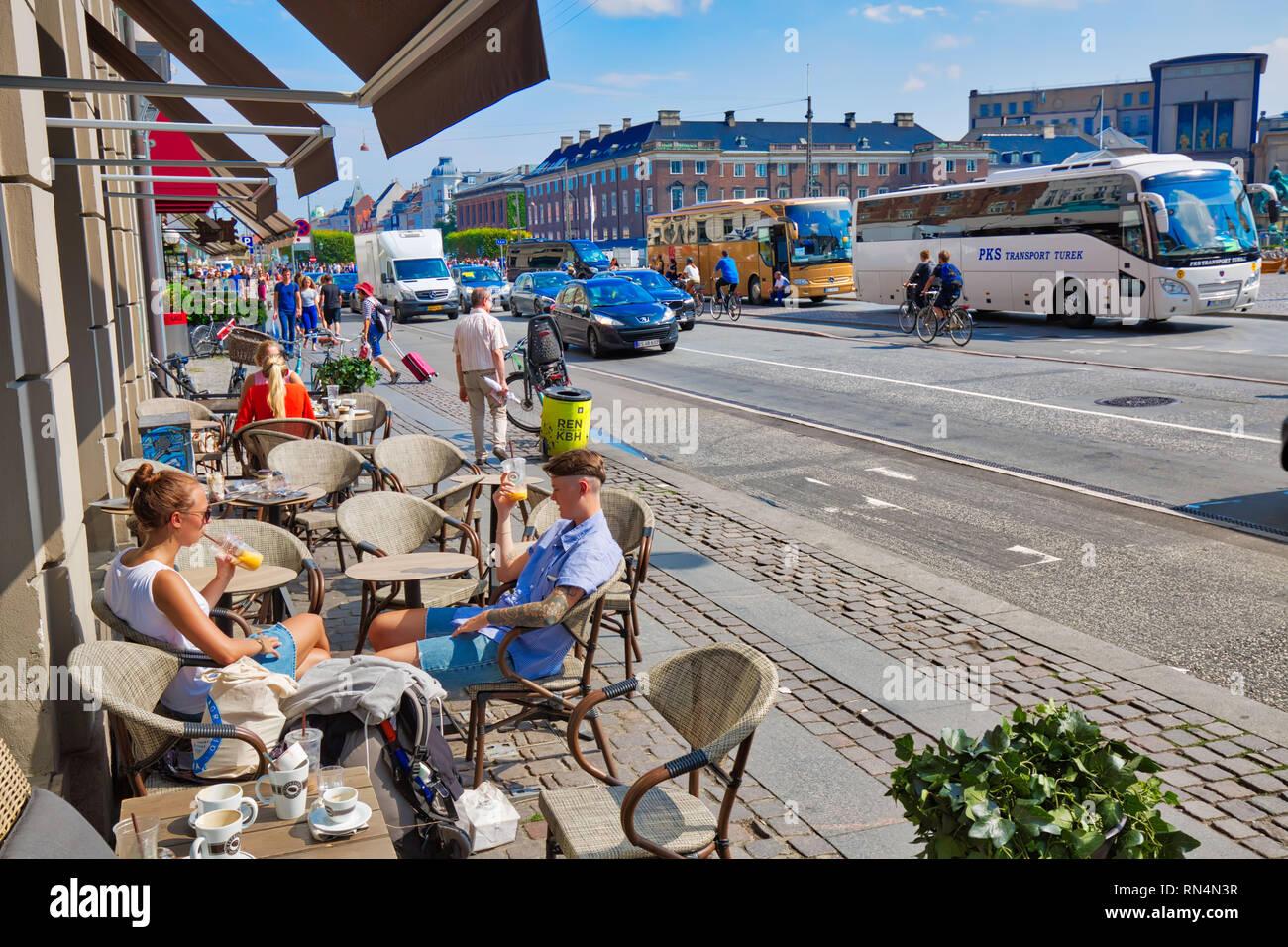 Copenhagen, Denmark-2 August, 2018 Copenhagen, Kongens Nytorv central city square - Stock Image