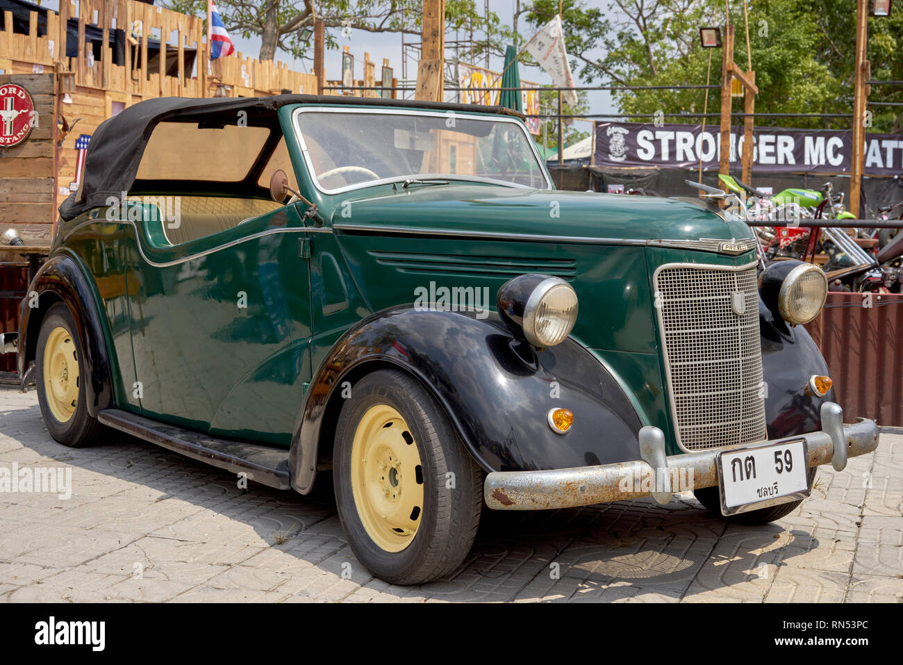 Ford Prefect convertible, vintage 1939 rare car - Stock Image