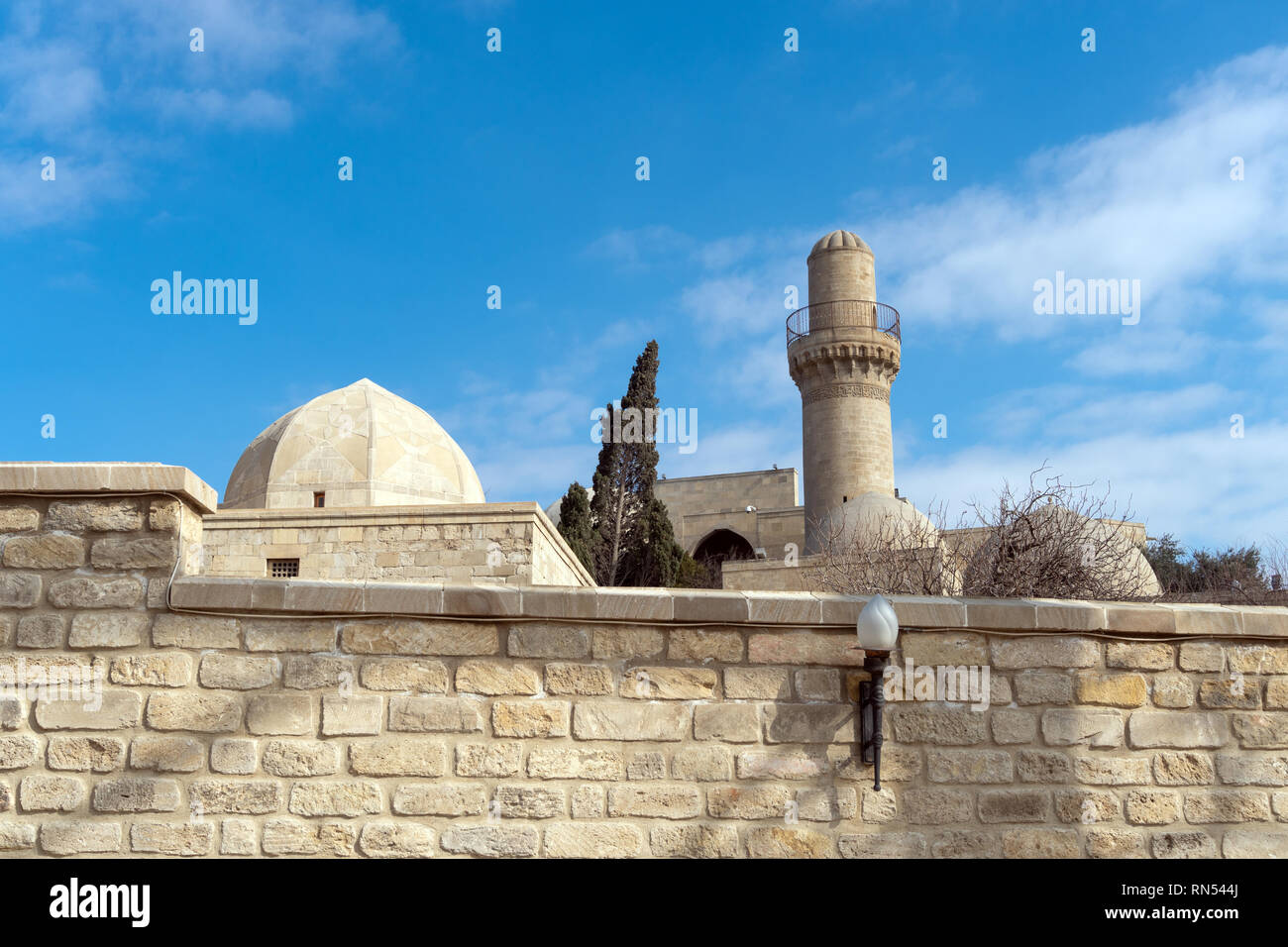 Minaret in the old town, - Stock Image