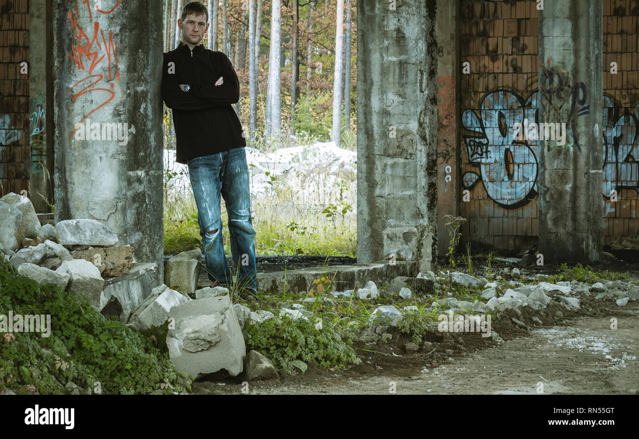Abandoned Building Street Art Portrait High Resolution Stock Photography And Images Alamy