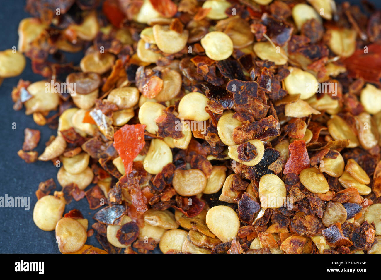 The chili spice is considered the hottest chili spice ever. This sharpness can only be topped if different chili spices are mixed. - Stock Image