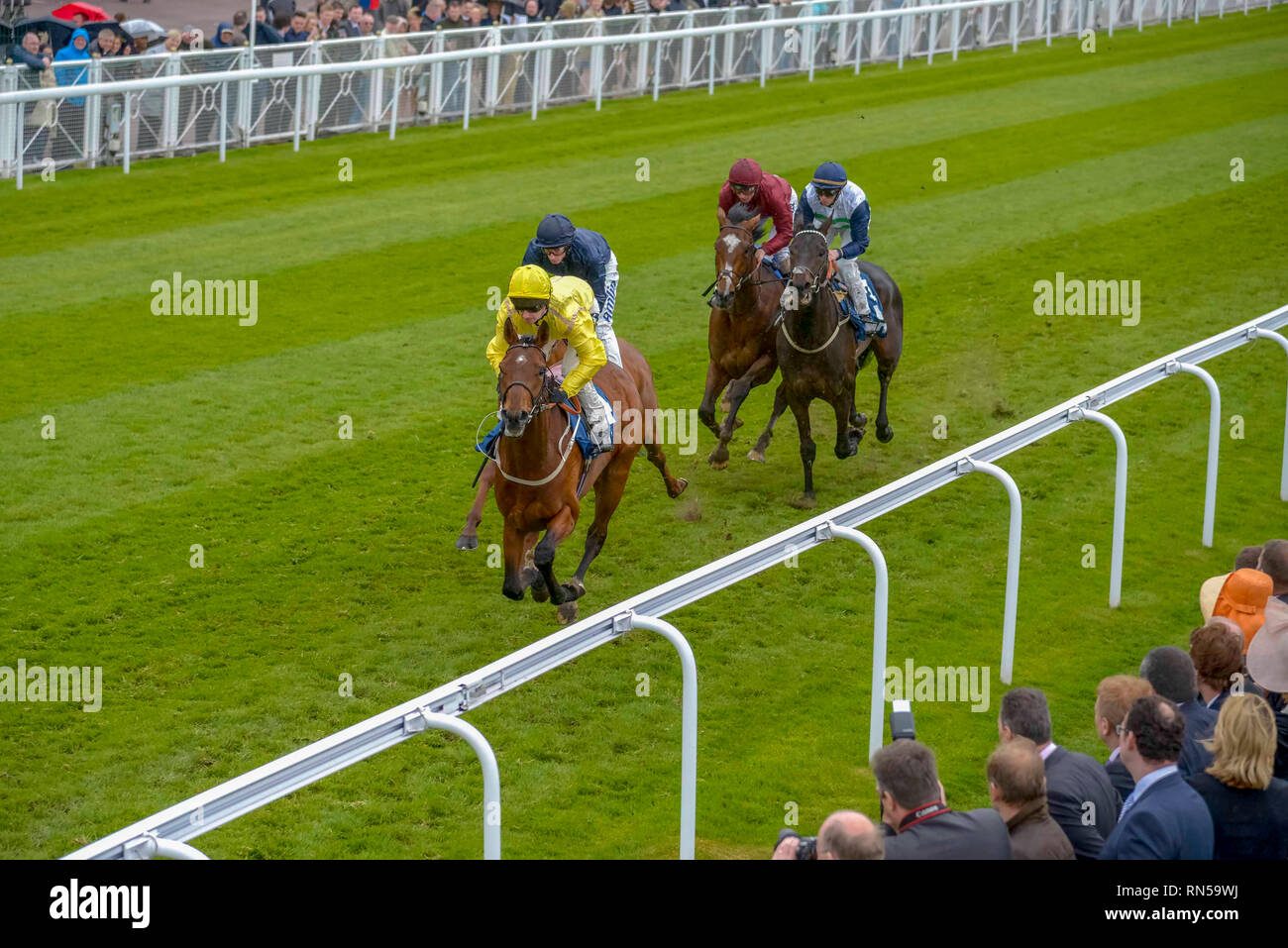 The Chester Vase race meeting at Chester Races. - Stock Image
