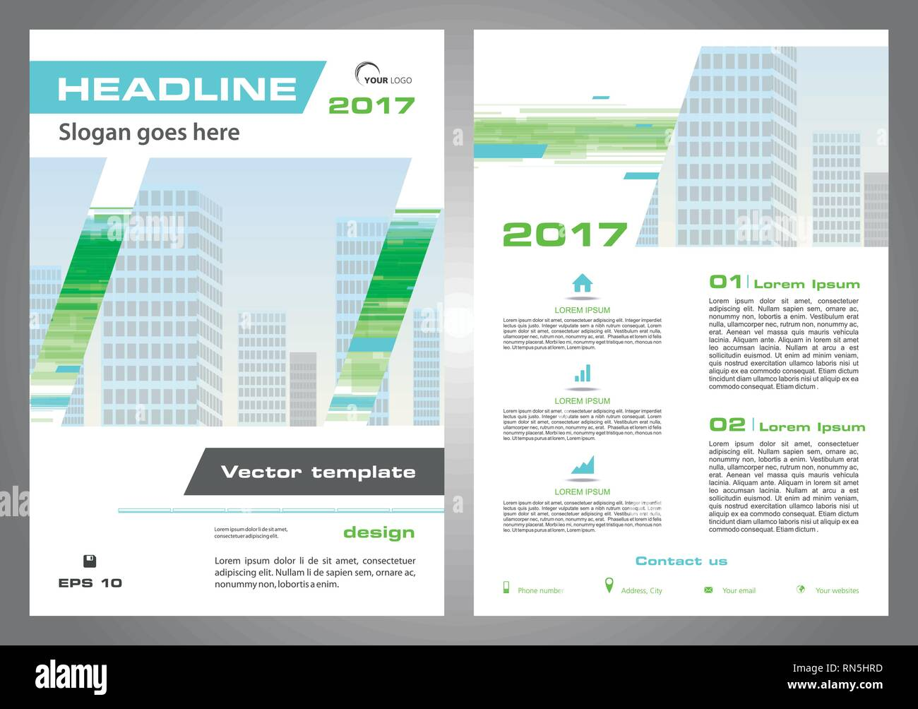 Vector Flyer Corporate Business Annual Report Brochure