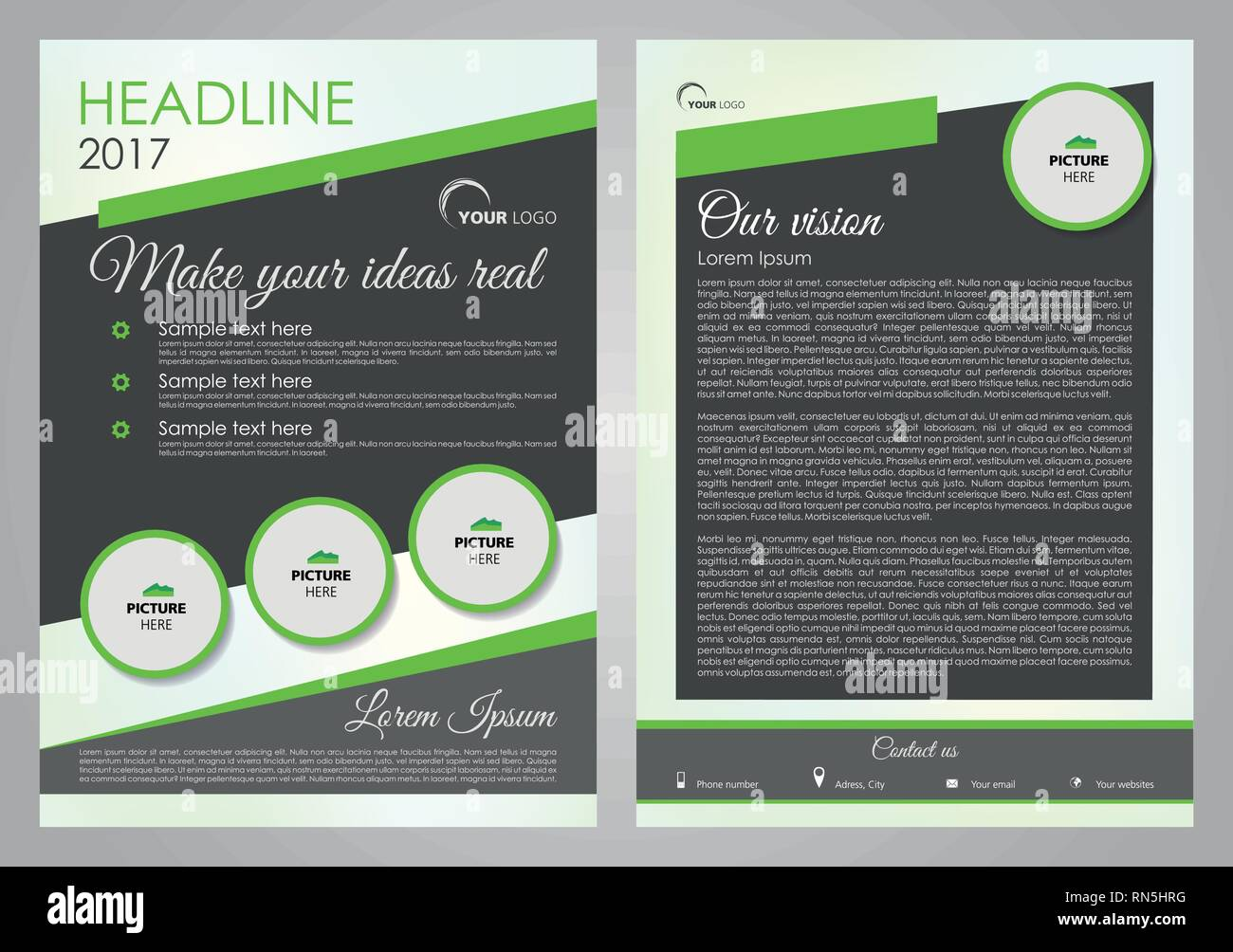Vector Flyer Corporate Business Annual Report Brochure