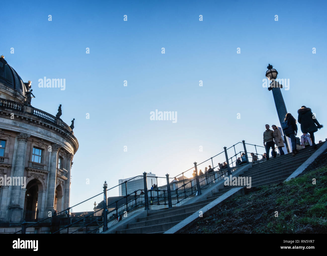 Berlin, Germany, 16th February 2019. Berliners are enjoying a glorious Spring-like weekend in the middle of February - normally the second coldest month of the year. The parks were crowded with people  enjoying the blue skies, sunshine and unseasonal warmer weather. Credit: Eden Breitz/Alamy Live News - Stock Image