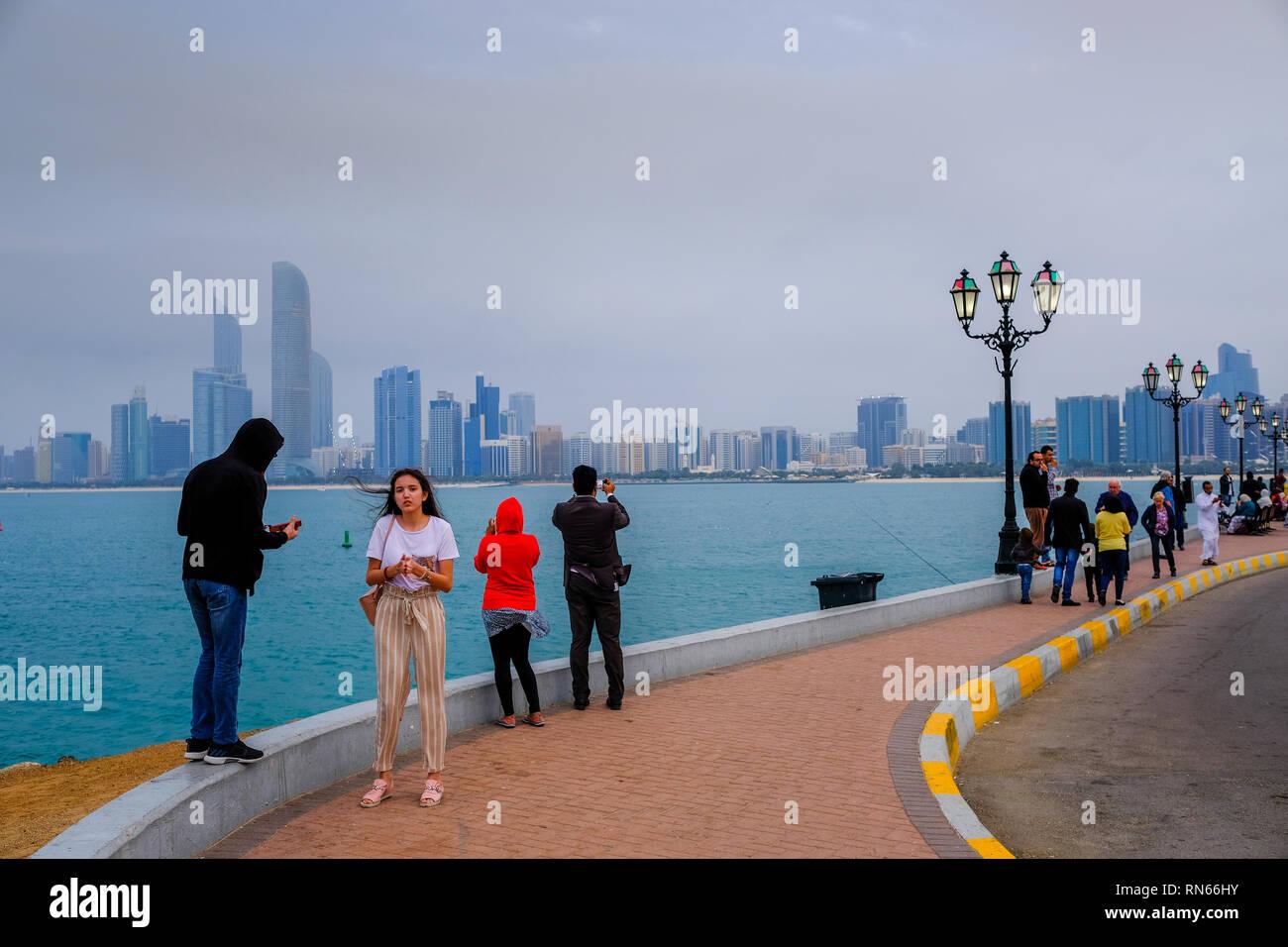 Abu Dhabi, UAE  17th Feb, 2019  Residents of Abu Dhabi