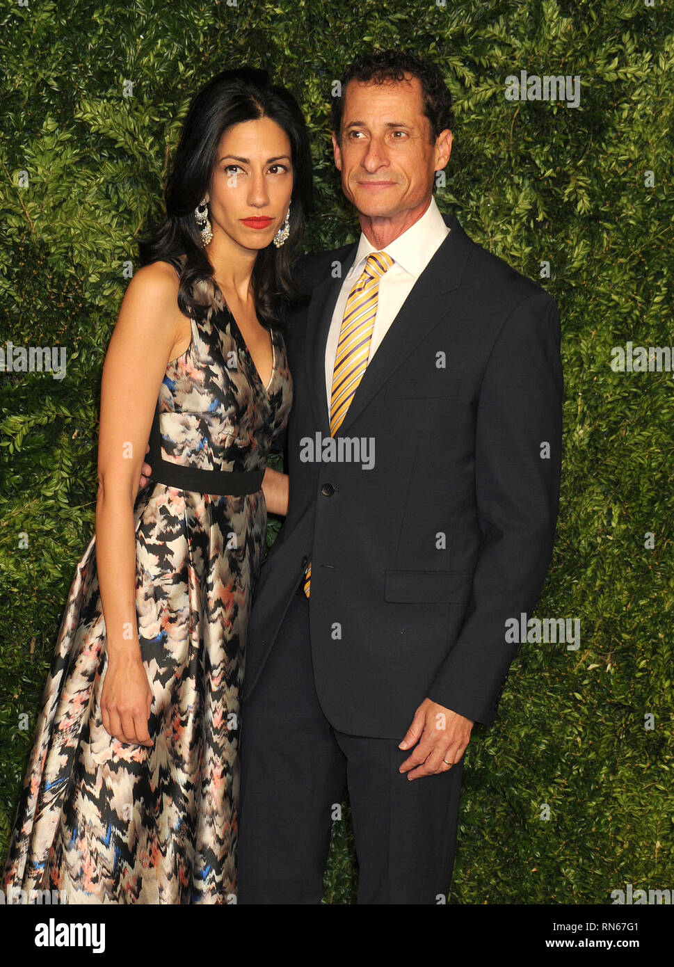 ***FILE PHOTO*** Anthony Weiner Out Of Prison Early After Pleading Guilty to Sexting 15 Year Old NEW YORK, NY - NOVEMBER 02: Huma Abedin, Anthony Weiner attends the 12th annual CFDA/Vogue Fashion Fund Awards at Spring Studios on November 2, 2015 in New York City People: Huma Abedin, Anthony Weiner Transmission Ref: MNC1 MPI122/ MediaPunch Stock Photo
