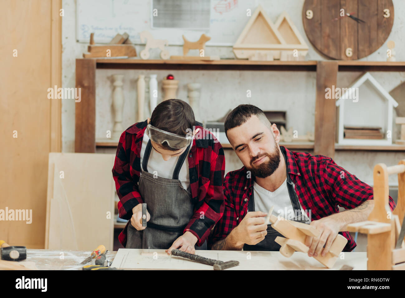 In Carpentry Coworking Studio Children And Youngsters Can Learn A