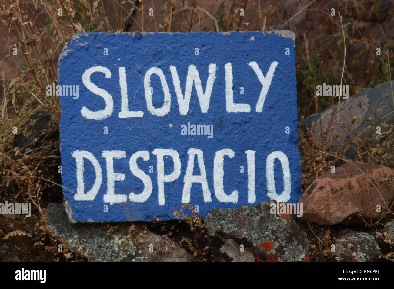 slowing down in Peruvian Andes Stock Photo