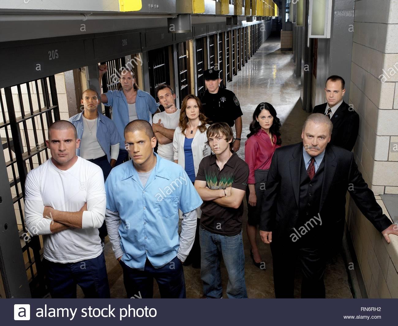 PRISON BREAK : SEASON 1, WENTWORTH MILLER, DOMINIC PURCELL, AMAURY NOLASCO, PETER STORMARE, ROBERT KNEPPER, SARAH WAYNE CALLIES, WADE WILLIAMS - Stock Image