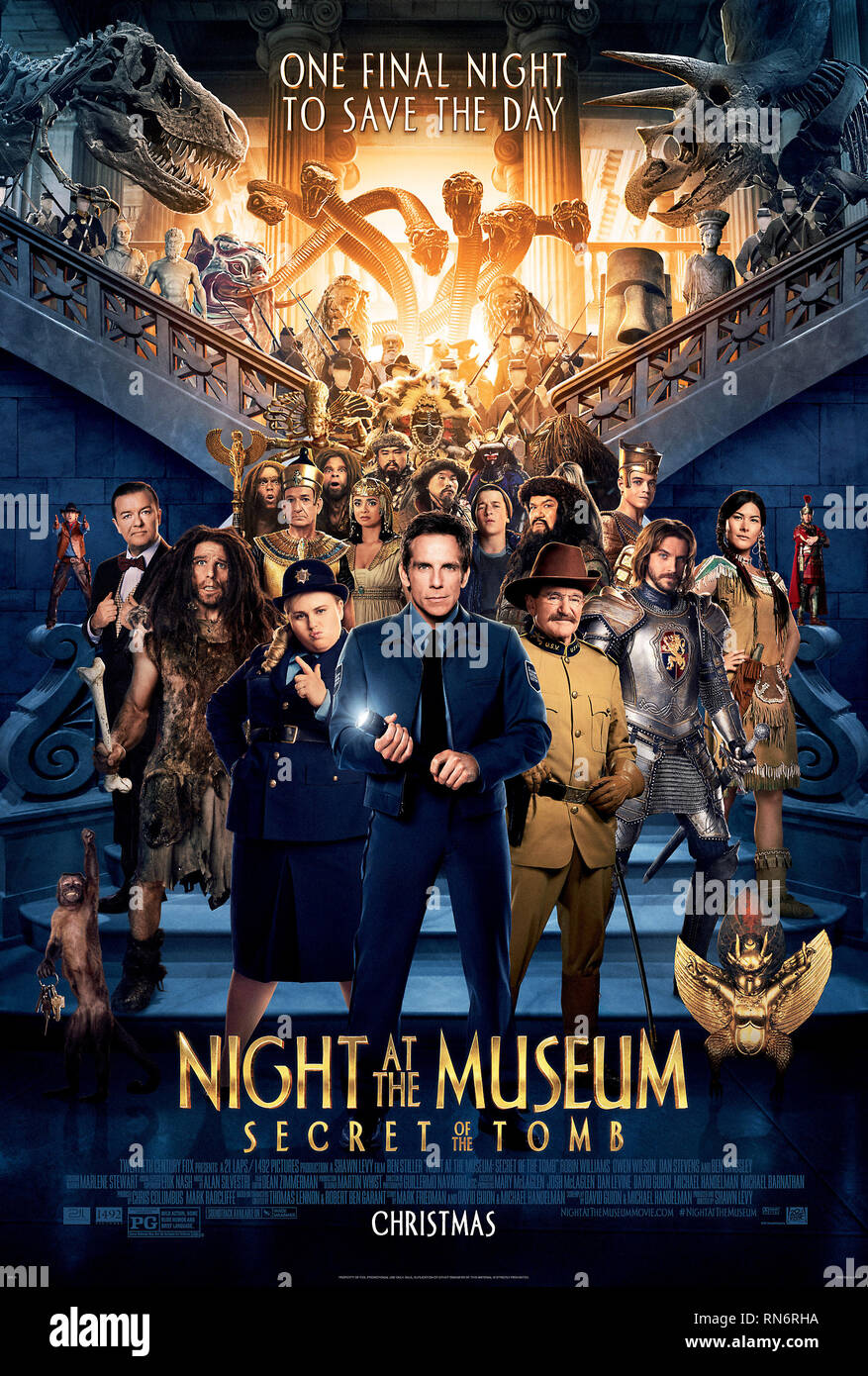 MOVIE POSTER, NIGHT AT THE MUSEUM: SECRET OF THE TOMB, 2014 - Stock Image