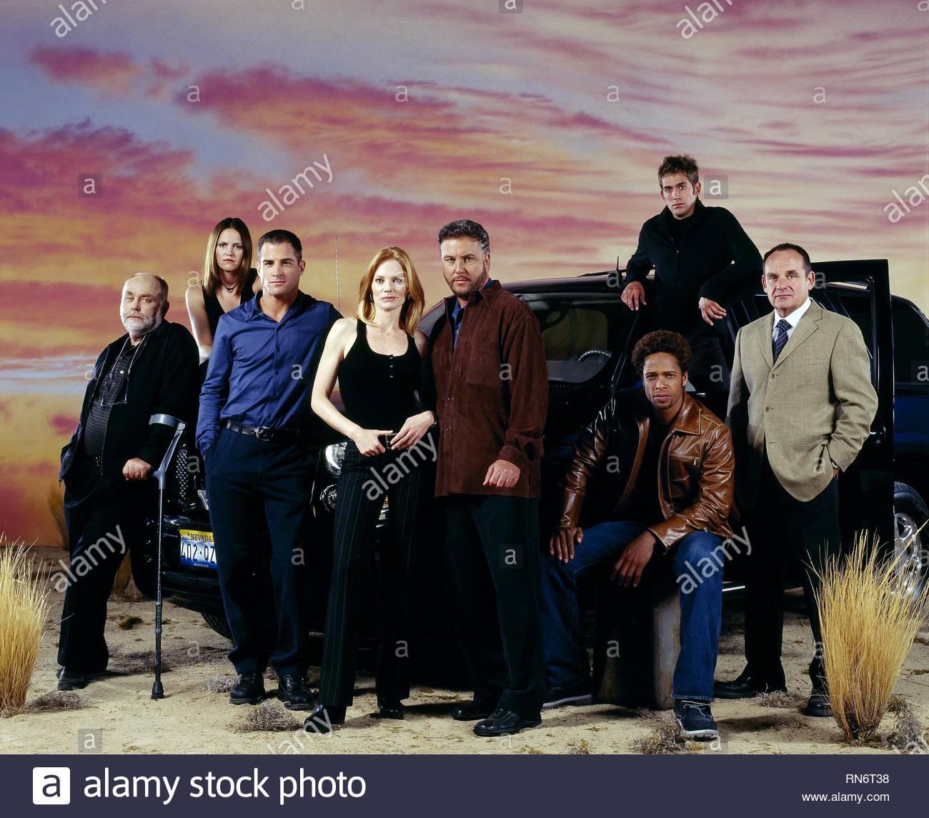 CSI: CRIME SCENE INVESTIGATION, ROBERT DAVID HALL, JORJA FOX, GEORGE EADS, MARG HELGENBERGER, WILLIAM L. PETERSEN, GARY DOURDAN, ERIC SZMANDA - Stock Image