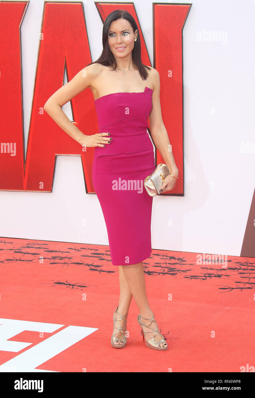 Jul 08, 2015 - London, England, UK - Ant-Man European Premiere, Odeon Leicester Square - Red Carpet Arrivals Photo Shows: Linzi Stoppard - Stock Image