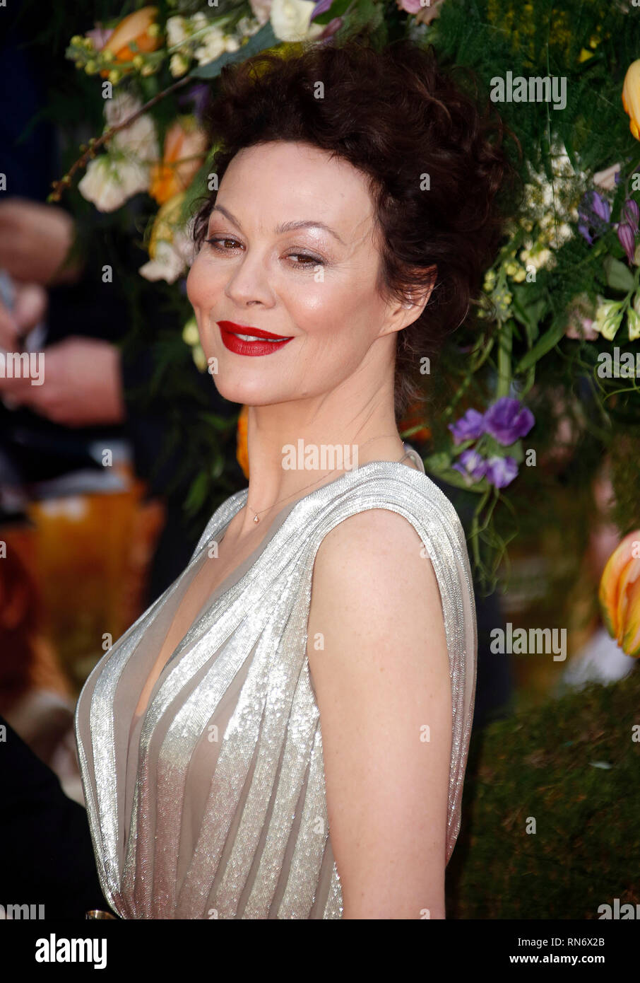 Apr 13 2015 London England Uk A Little Chaos Uk Premiere Odeon Kensington Red Carpet Arrivals Photo Shows Helen Mccrory Stock Photo Alamy
