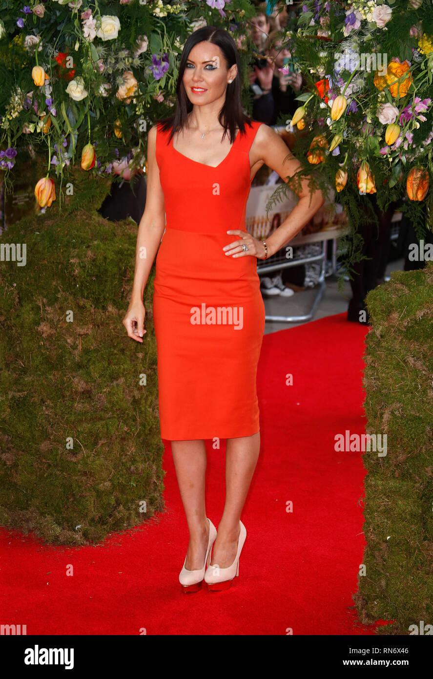 Apr 13, 2015 - London, England, UK - A Little Chaos UK Premiere, Odeon Kensington - Red Carpet Arrivals Photo Shows: Linzi Stoppard - Stock Image