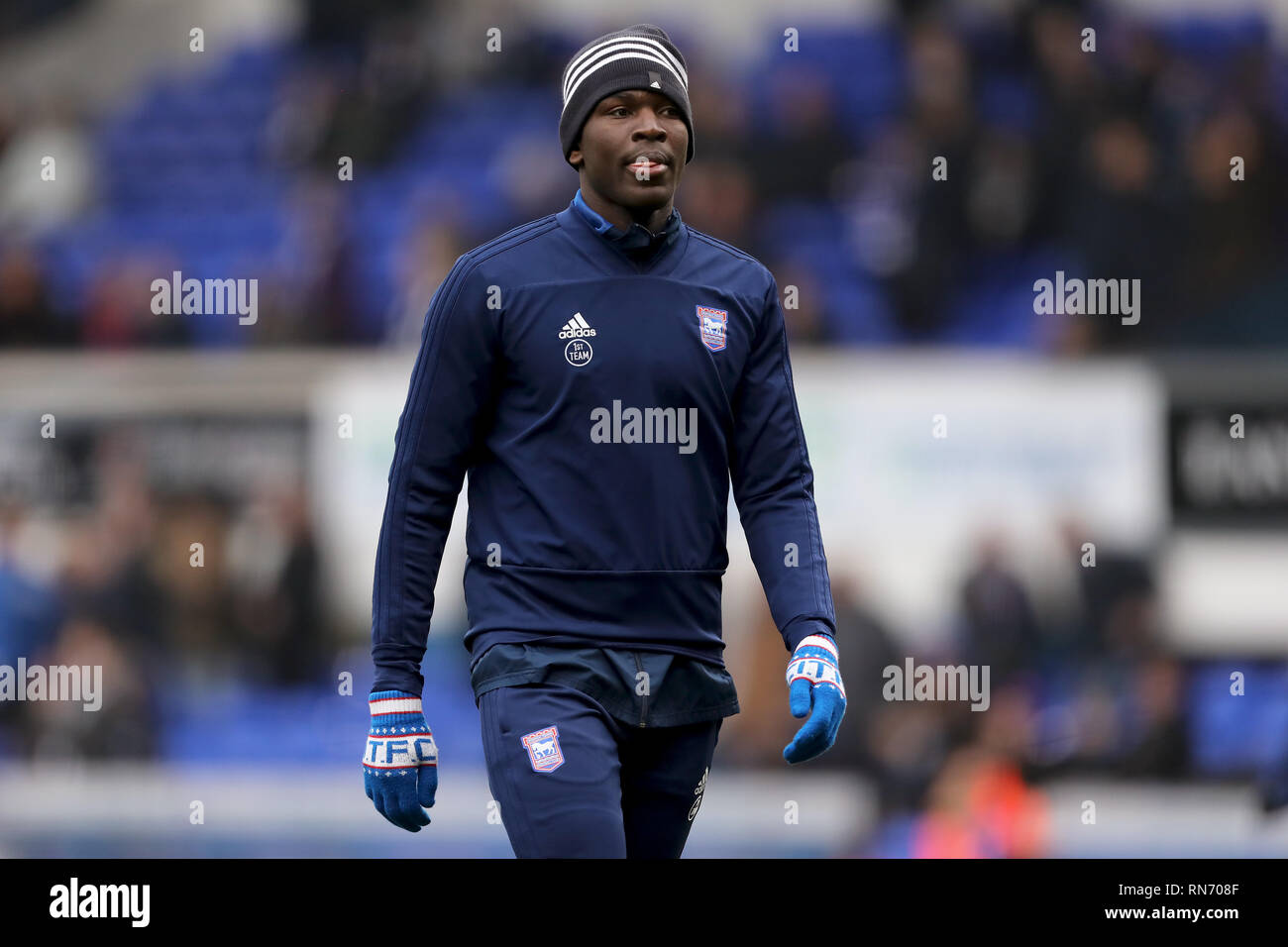 Aristote Nsiala of Ipswich Town - Ipswich Town v Stoke City, Sky Bet Championship, Portman Road, Ipswich - 16th February 2019  Editorial Use Only - Da - Stock Image
