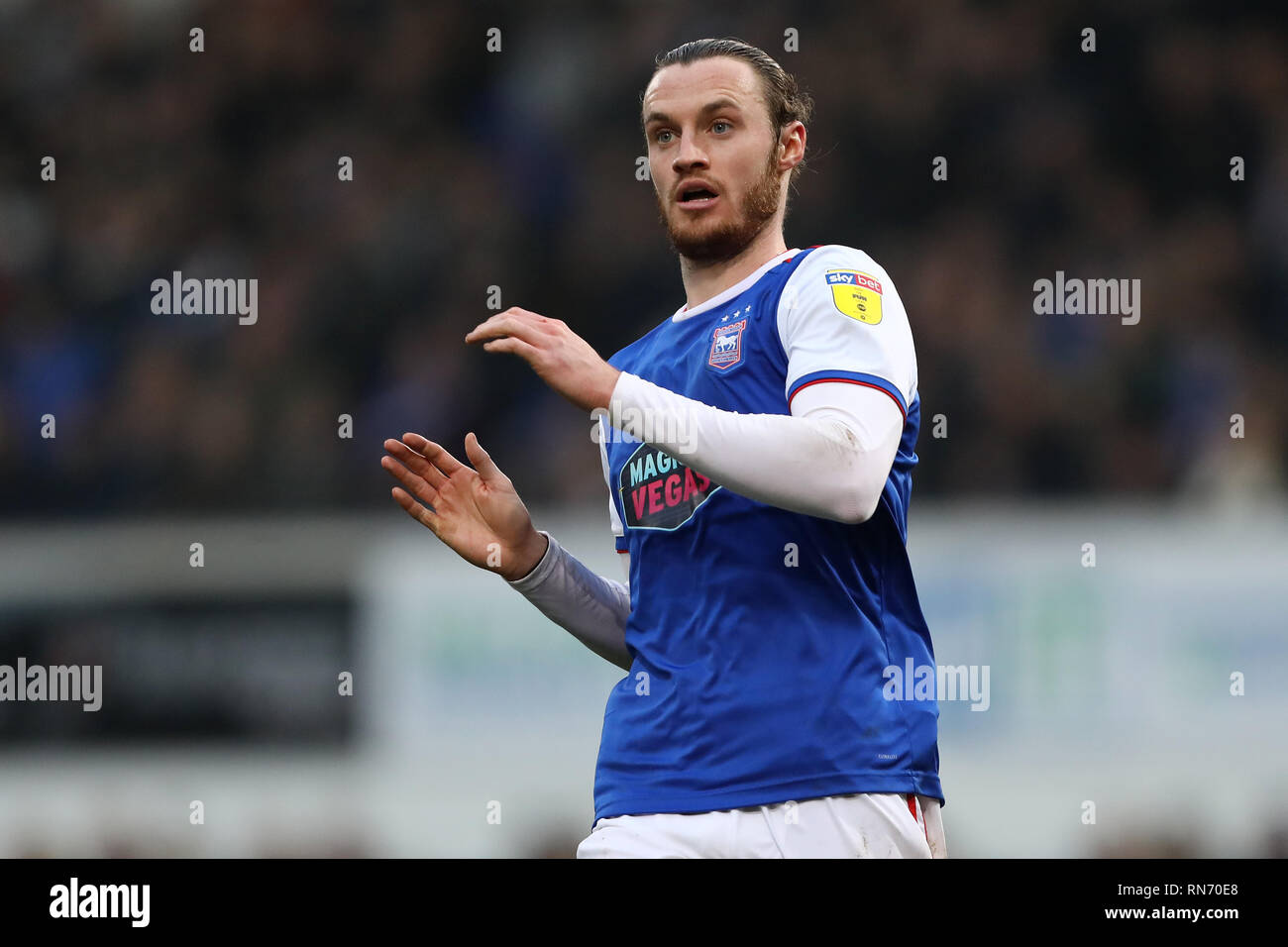 Will Keane of Ipswich Town - Ipswich Town v Stoke City, Sky Bet Championship, Portman Road, Ipswich - 16th February 2019  Editorial Use Only - DataCo  - Stock Image