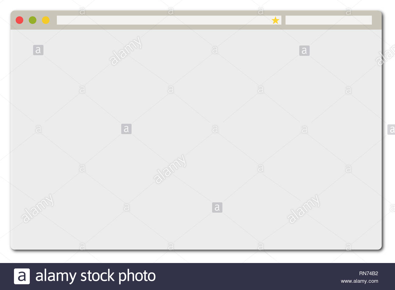 Simple Web Browser Template Stock Photo 236799670 Alamy
