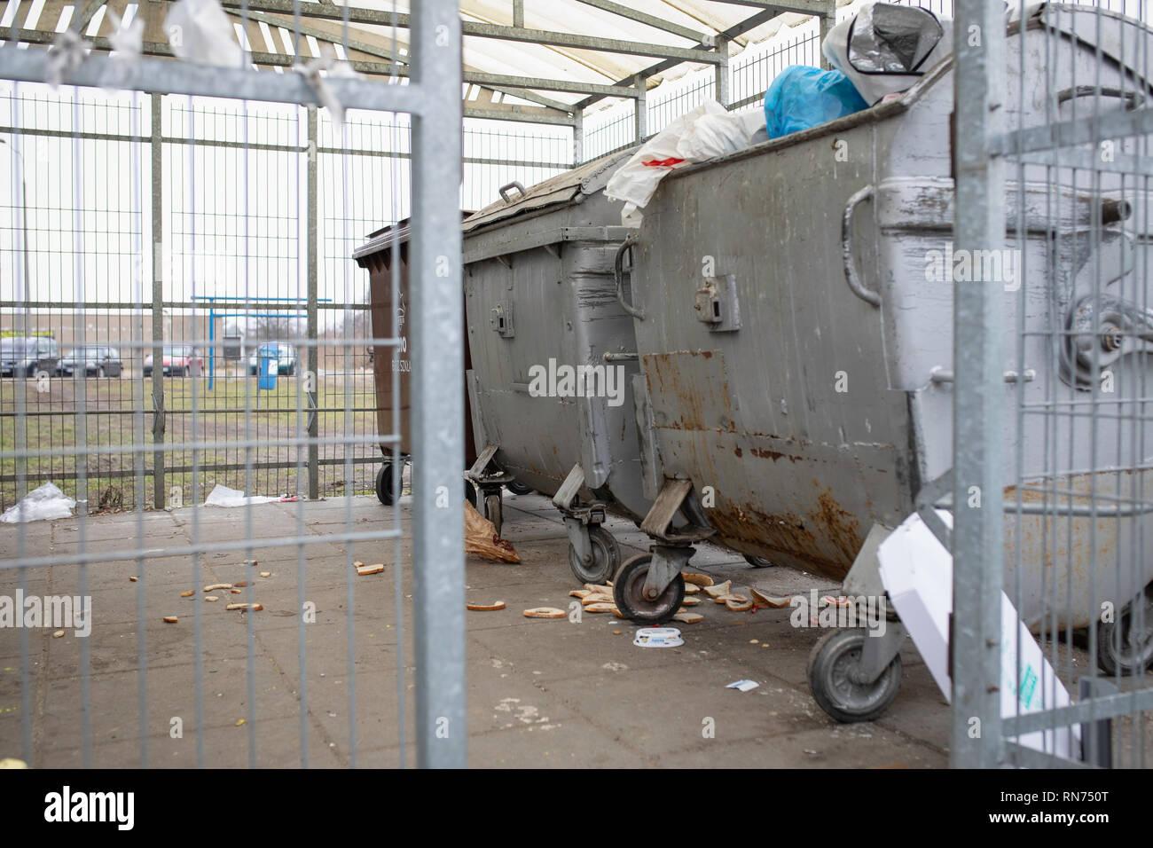 Waste container. Garbage, mess, rubbish, garbage, junk, trash. - Stock Image