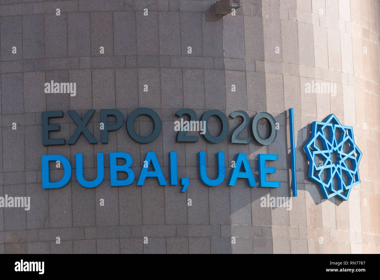 The Dubai Expro 2020 advertising on the Dubai Municipality
