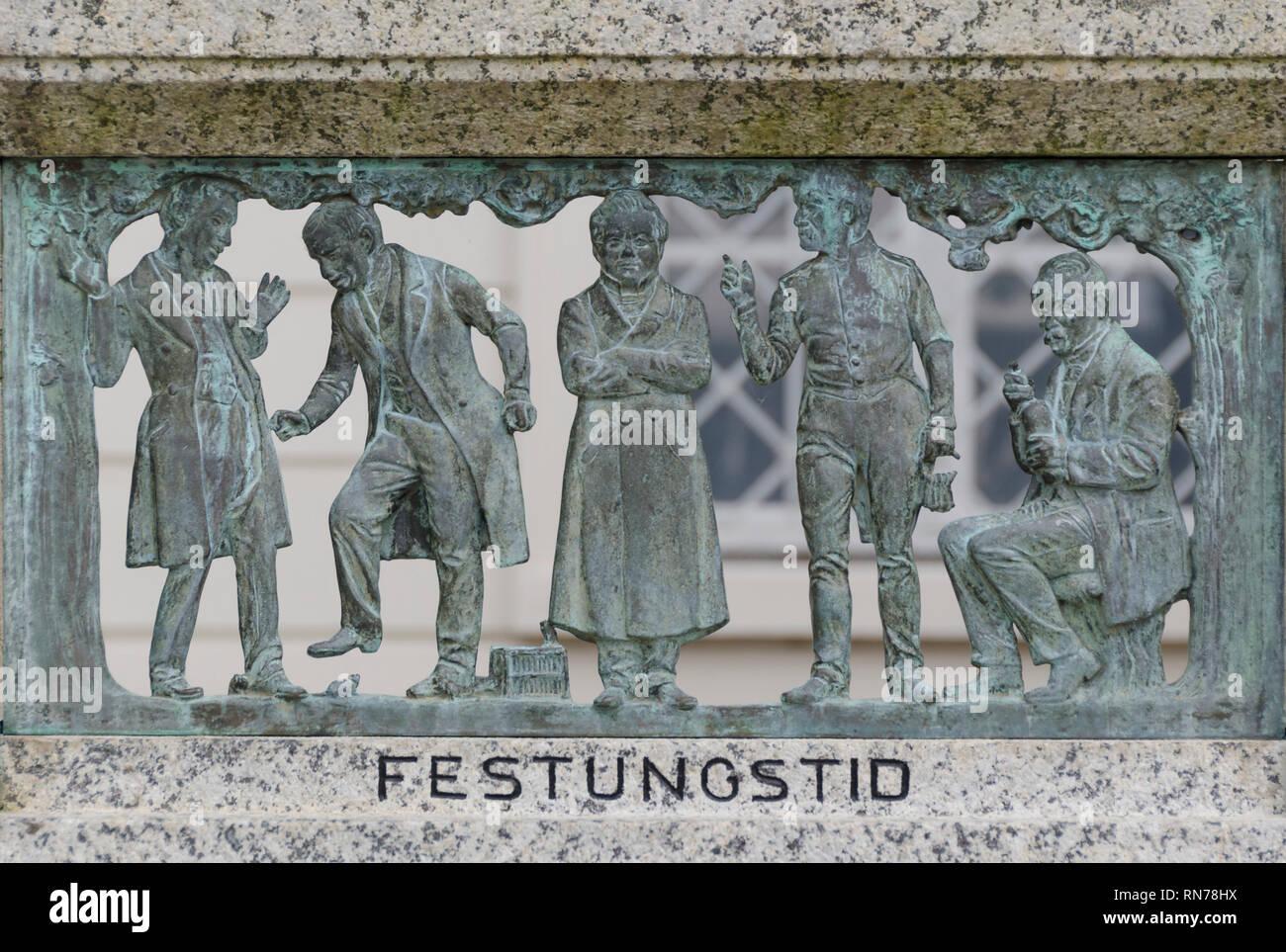 Fritz-Reuter-Denkmal, Stavenhagen, Mecklenburg-Vorpommern, Deutschland - Stock Image
