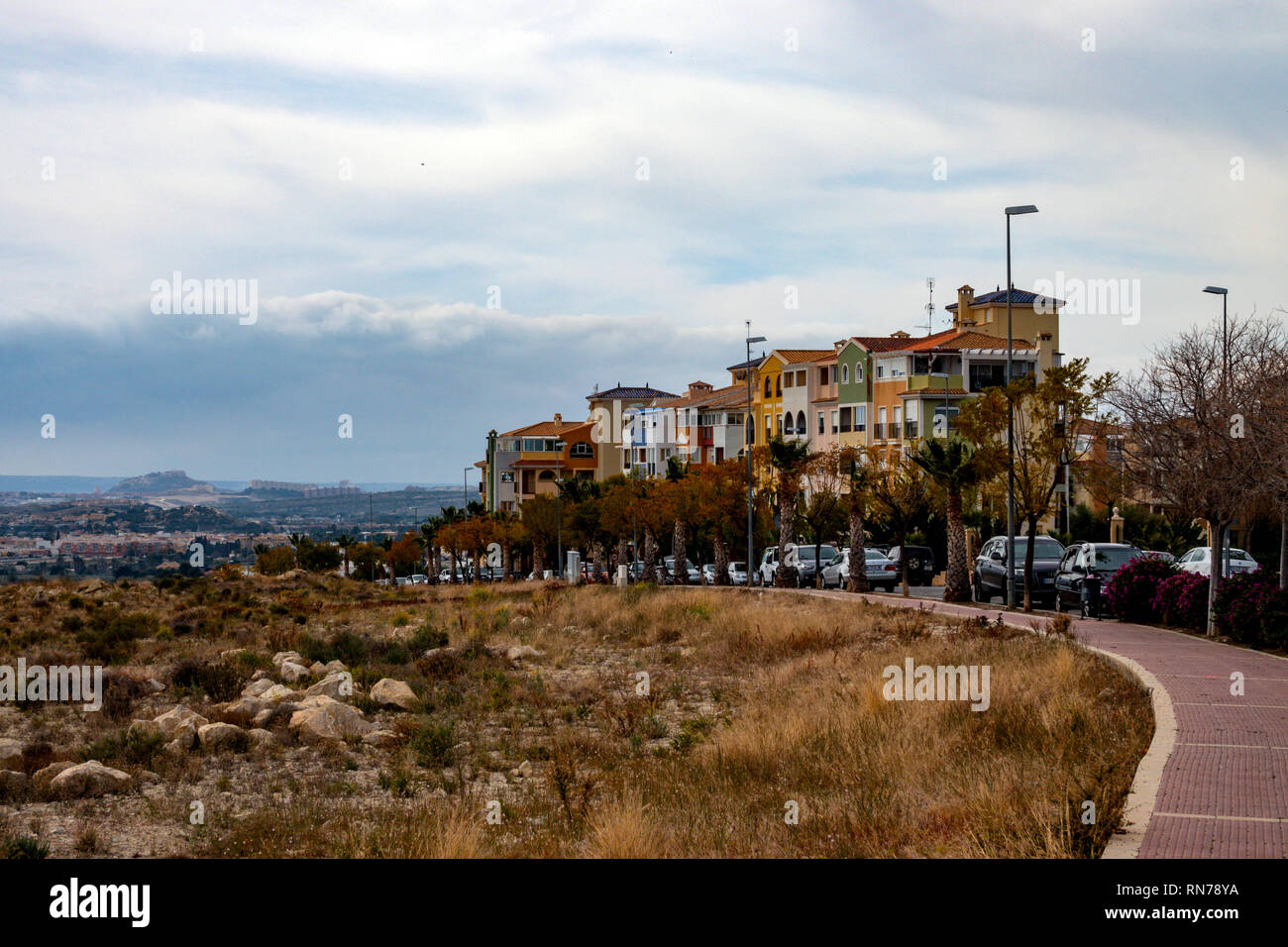 Bonalba golf resort and urbanisation, Mutxamel, Alicante, Costa Banca, Spain - Stock Image