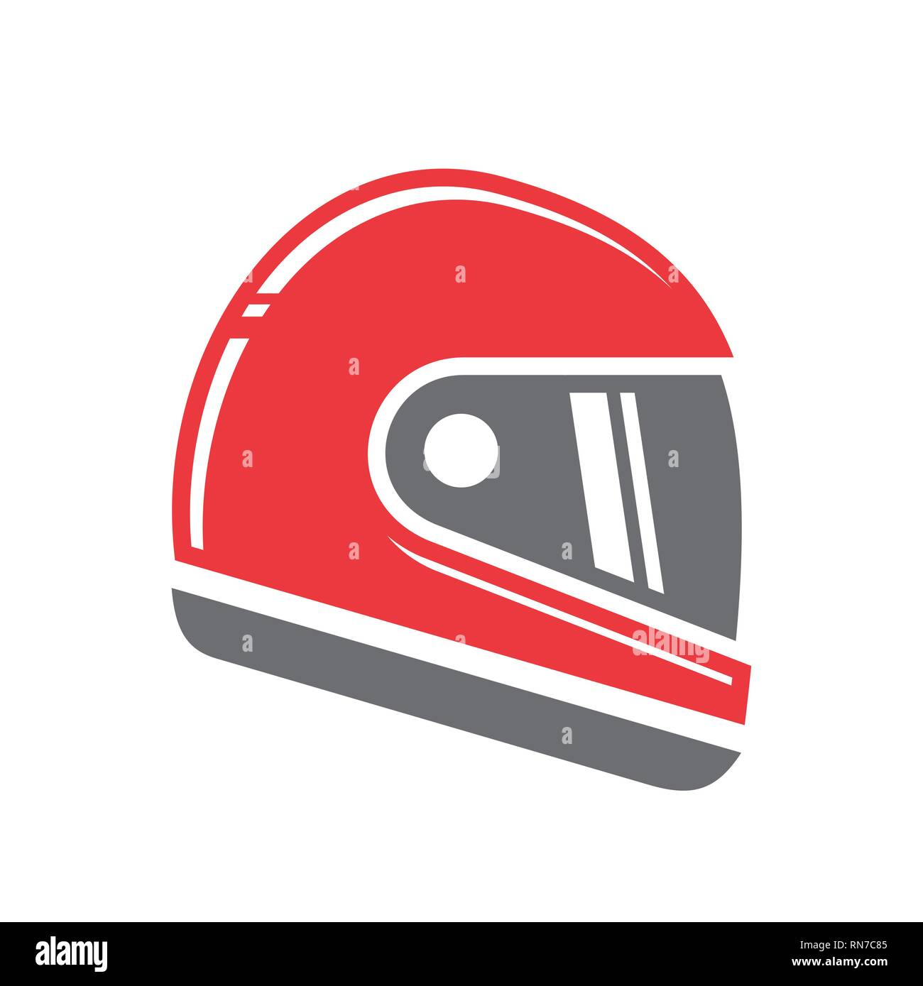 Motorcycle helmet icon on white background for graphic and web design, Modern simple vector sign. Internet concept. Trendy symbol for website design web button or mobile app. Stock Vector