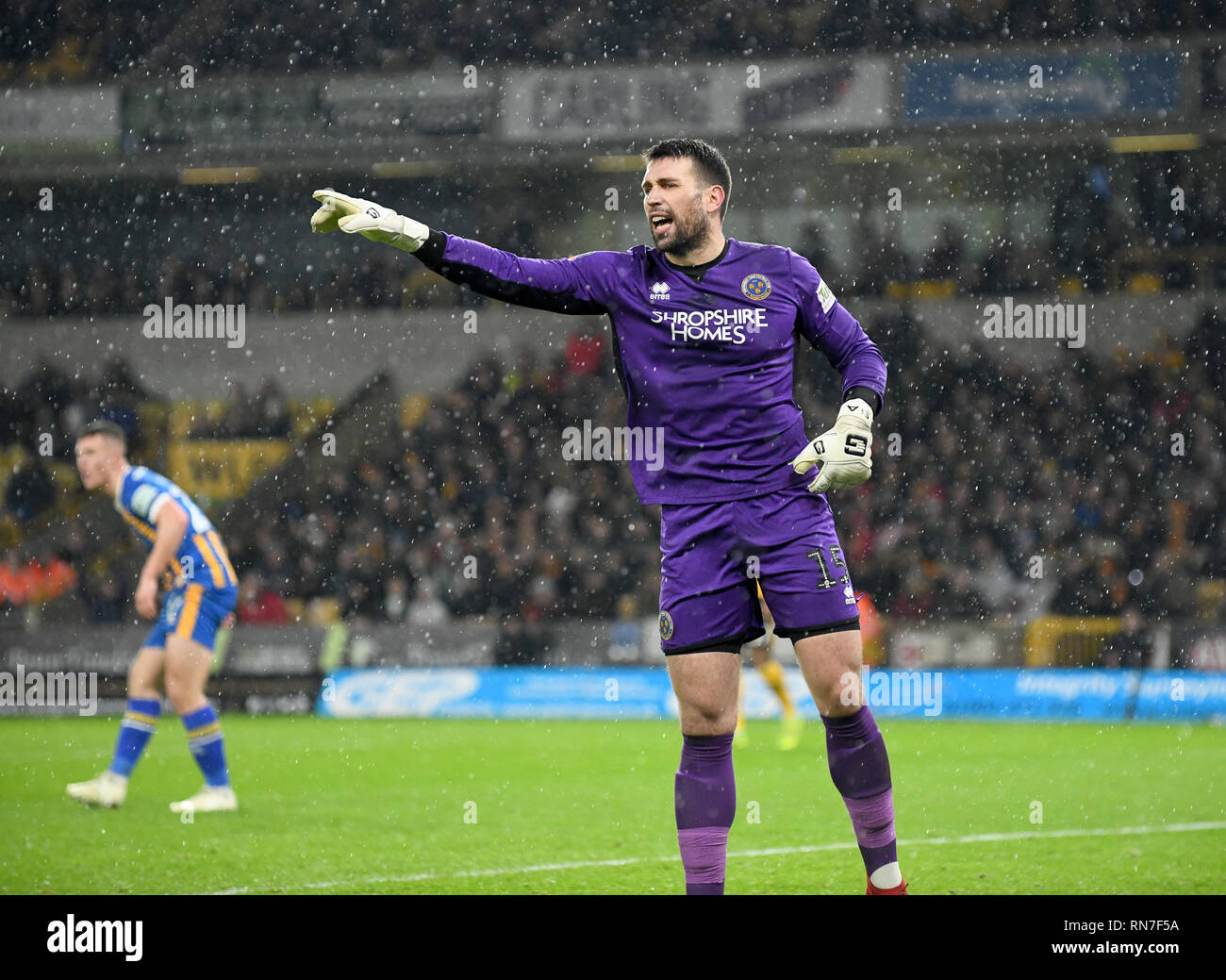Footballer football goalkeeper Steve Arnold of Shrewsbury Town FC - Stock Image