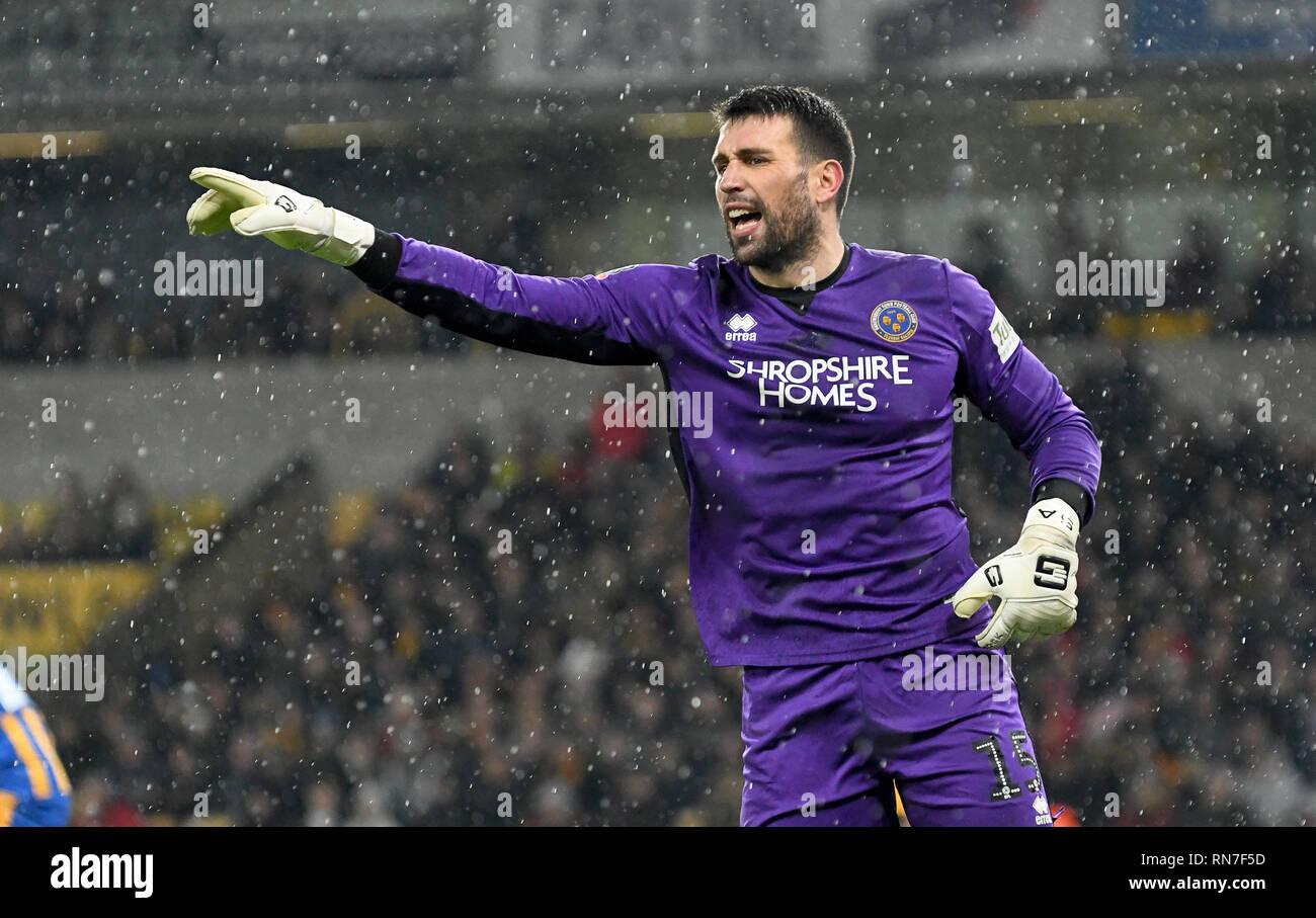 Footballer football goalkeeper Steve Arnold of Shrewsbury Town FC - Stock Image