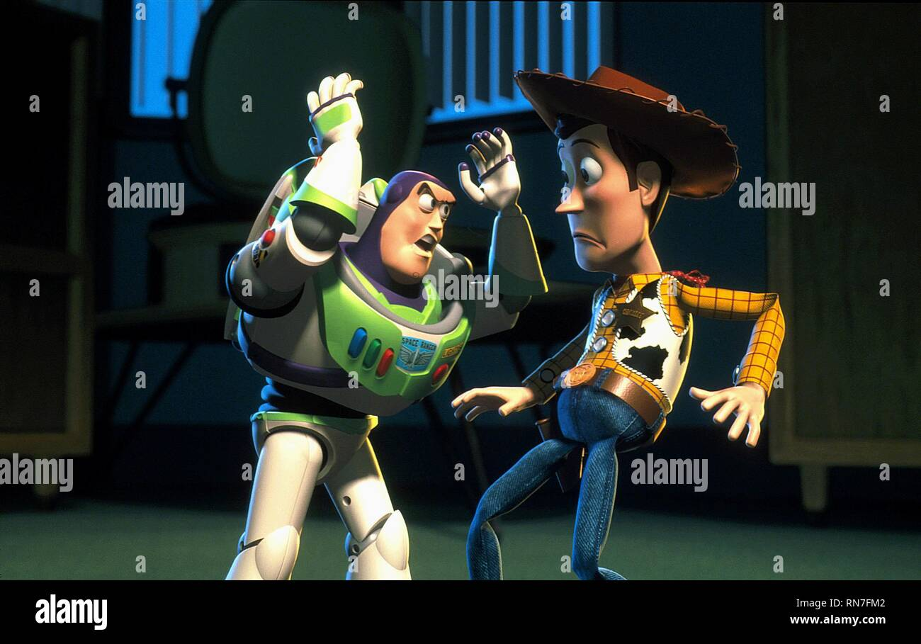 LIGHTYEAR,WOODY, TOY STORY 2, 1999 - Stock Image