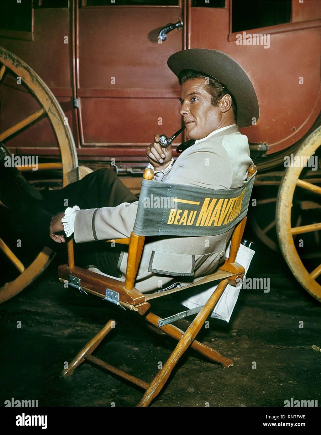 ROGER MOORE, MAVERICK, 1960 - Stock Image