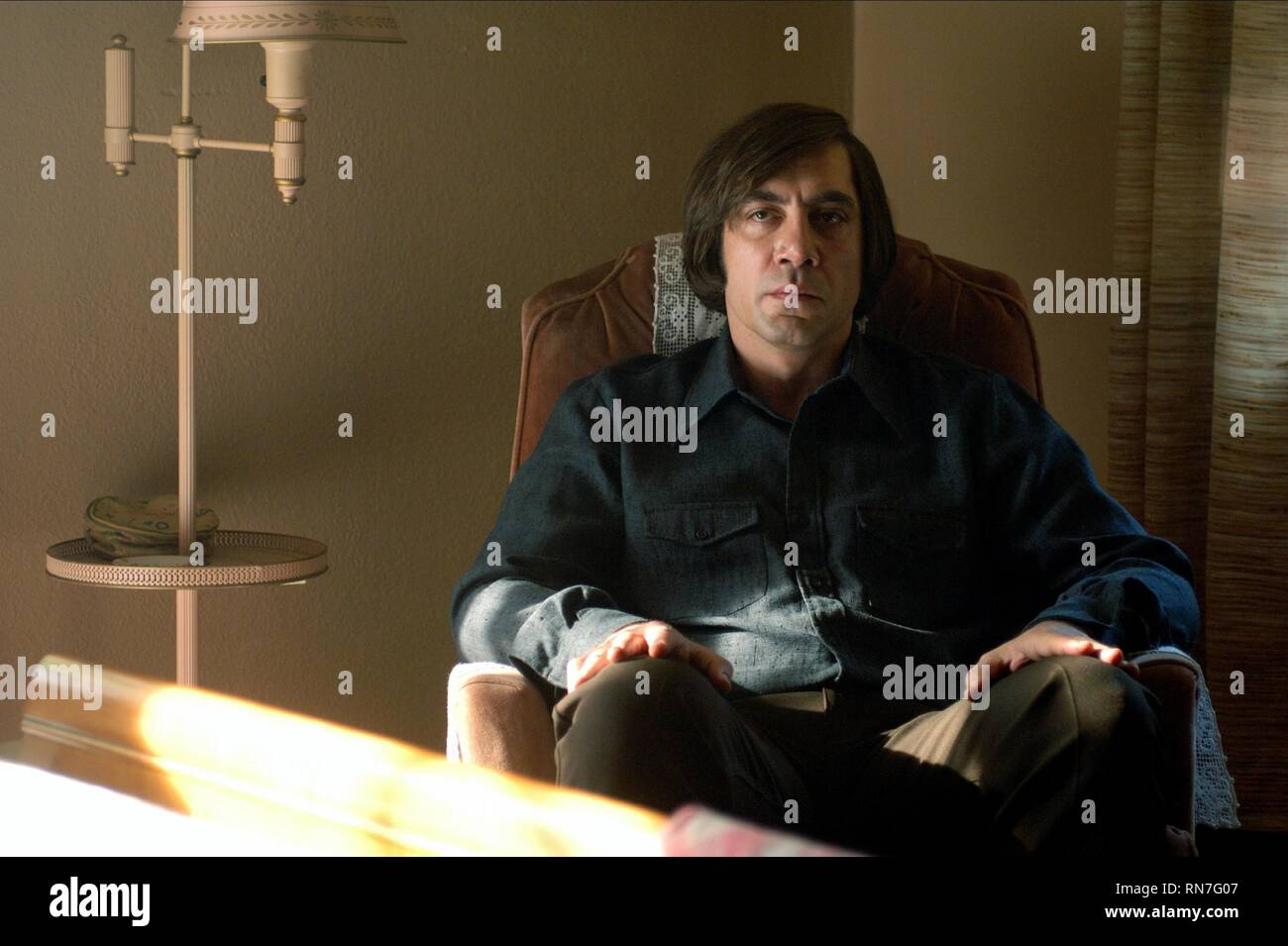JAVIER BARDEM, NO COUNTRY FOR OLD MEN, 2007 - Stock Image