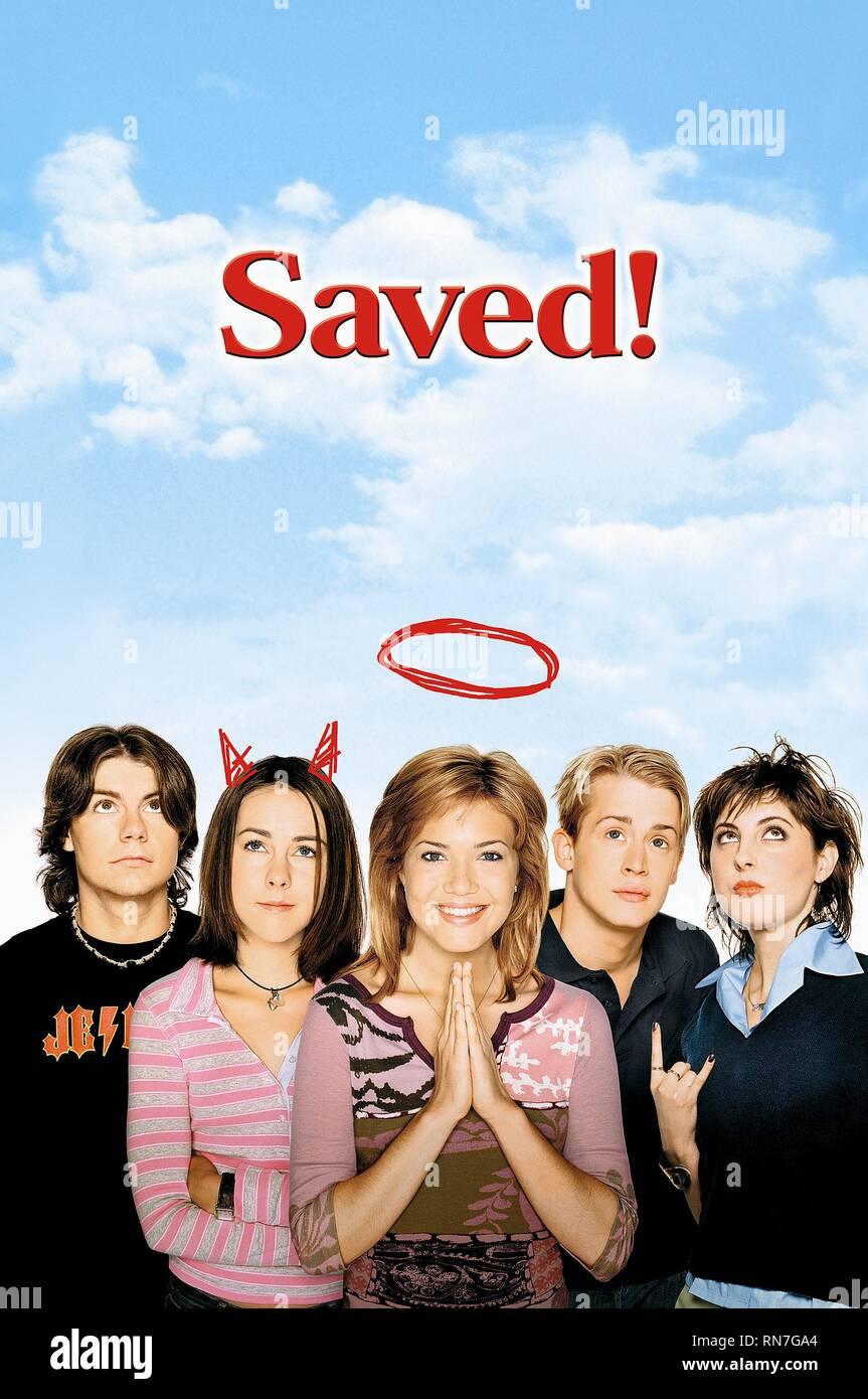 SAVED!, PATRICK FUGIT, JENNA MALONE, MANDY MOORE, MACAULEY CULKIN , EVA AMURRI, 2004 - Stock Image