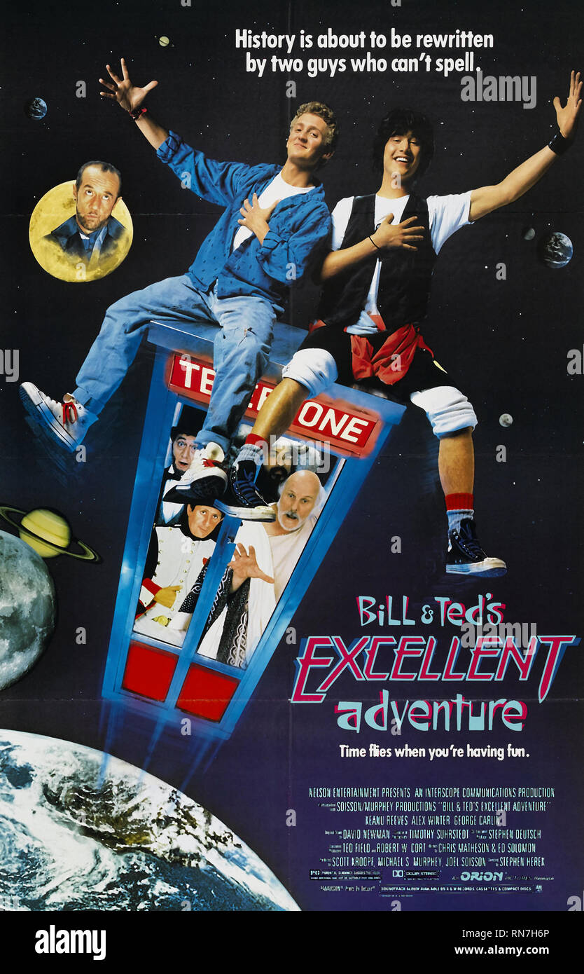 WINTER,POSTER, BILL and TED'S EXCELLENT ADVENTURE, 1989 - Stock Image