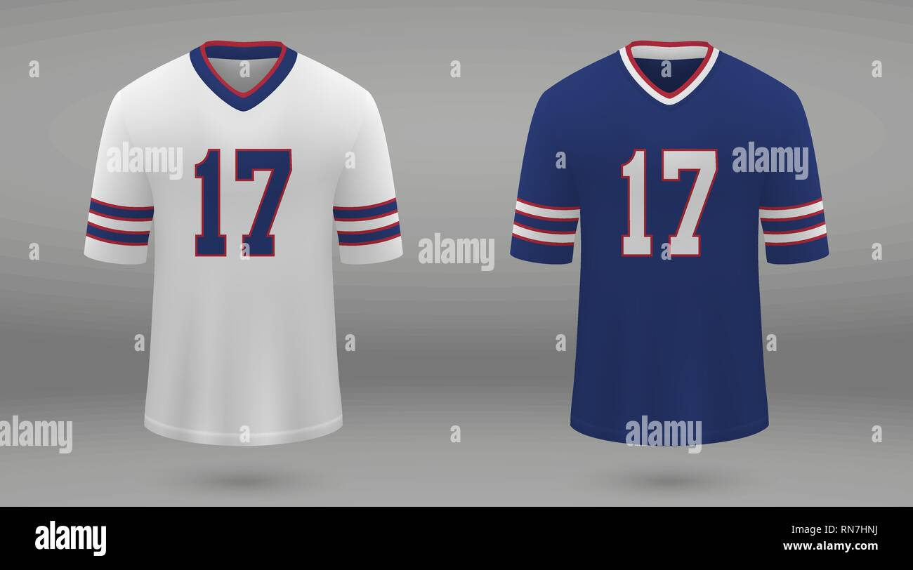 best website 427ef 73175 Realistic american football jersey Buffalo Bills, shirt ...