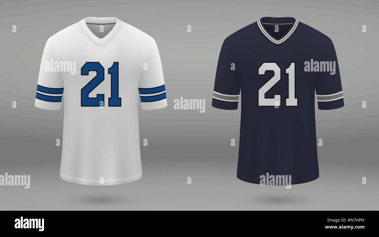 915d7378b18 Realistic american football jersey Dallas Cowboys, shirt template for kit.  Vector illustration