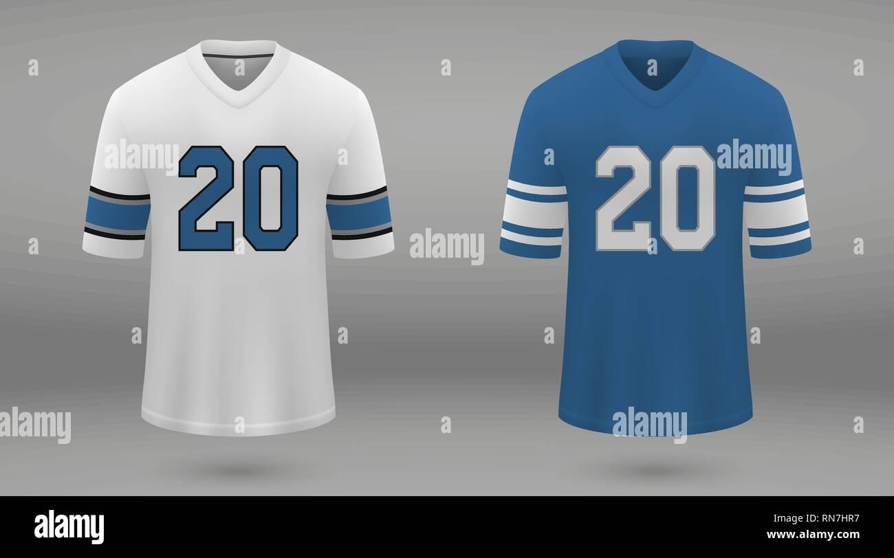 sale retailer c1cdc 6f115 Realistic american football jersey Detroit Lions, shirt ...