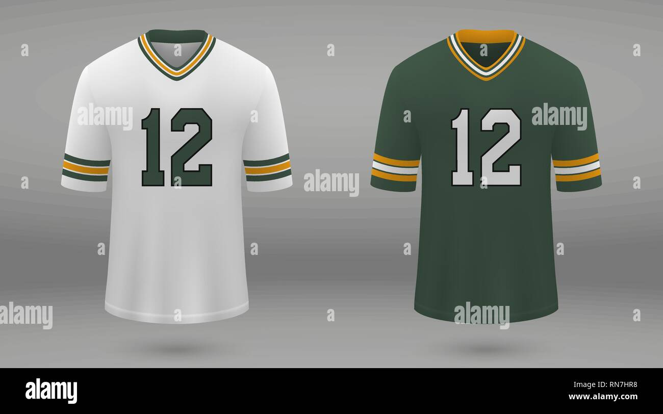 online store a9c04 68a93 Realistic american football jersey Green Bay Packers, shirt ...