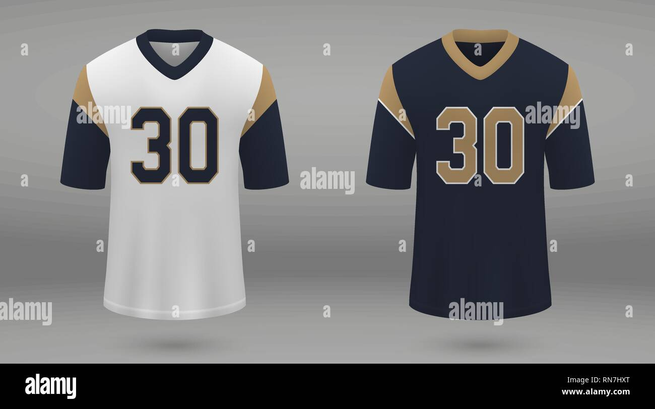 check out 00227 2fa78 Realistic american football jersey Los Angeles Rams, shirt ...