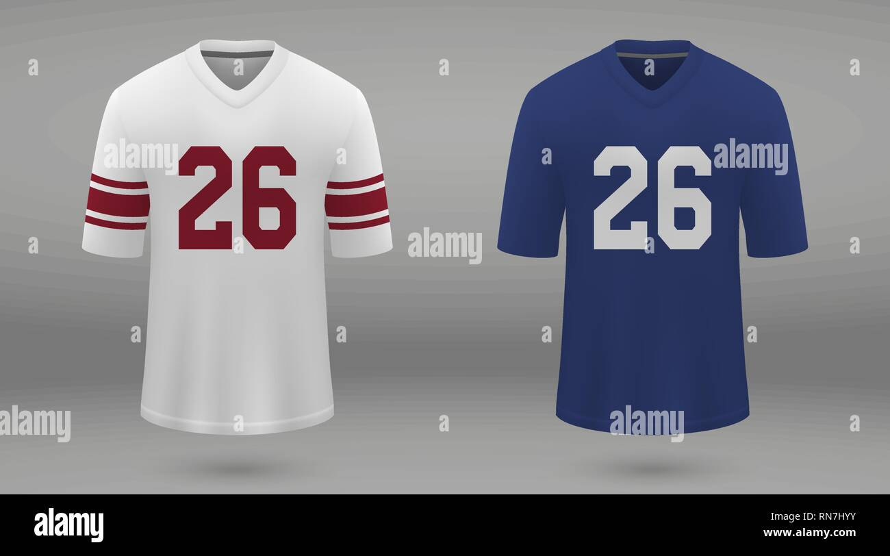 brand new c3083 cd62e Realistic american football jersey New York Giants, shirt ...