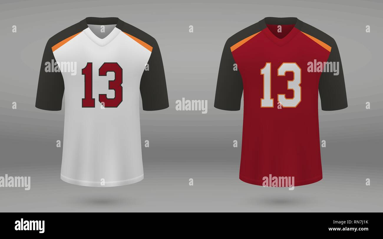 reputable site a6a5e e5cfb Realistic american football jersey Tampa Bay Buccaneers ...