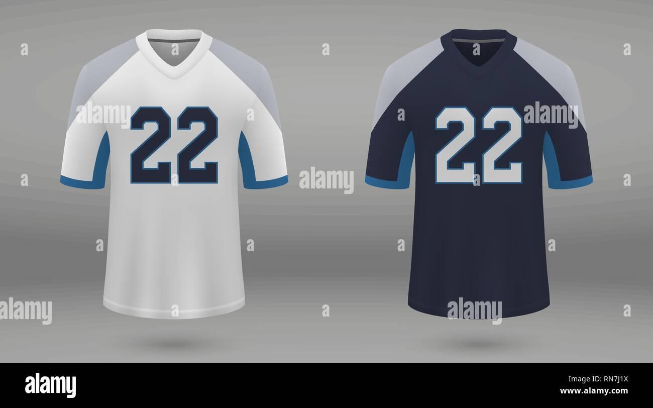 Realistic american football jersey Tennessee Titans 6bdd91ba8